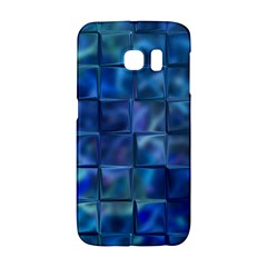 Blue Squares Tiles Samsung Galaxy S6 Edge Hardshell Case