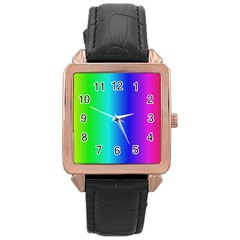 Crayon Box Rose Gold Leather Watch