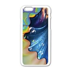 Cocktail Bubbles Apple iPhone 6 White Enamel Case