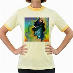Cocktail Bubbles Women s Ringer T-shirt (Colored)