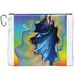 Cocktail Bubbles Canvas Cosmetic Bag (XXXL)