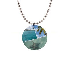 Caribbean Collage Button Necklace