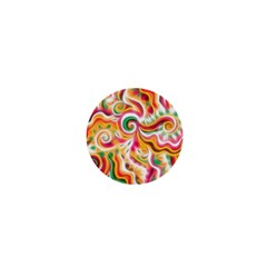 Sunshine Swirls 1  Mini Button