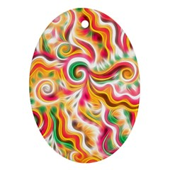Sunshine Swirls Oval Ornament (two Sides)