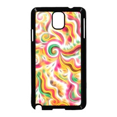 Sunshine Swirls Samsung Galaxy Note 3 Neo Hardshell Case (Black)