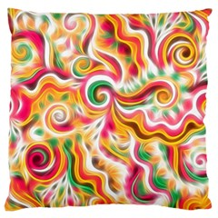 Sunshine Swirls Standard Flano Cushion Case (two Sides)
