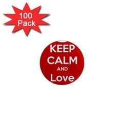 Keep Calm And Love Music 5739 1  Mini Button Magnet (100 Pack)