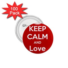 Keep Calm And Love Music 5739 1 75  Button (100 Pack)