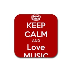 Keep Calm And Love Music 5739 Drink Coasters 4 Pack (square)