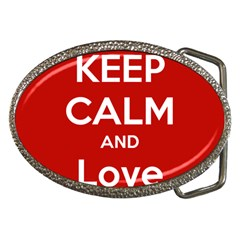 Keep Calm And Love Music 5739 Belt Buckle (oval)