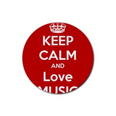 Keep Calm And Love Music 5739 Drink Coasters 4 Pack (round)