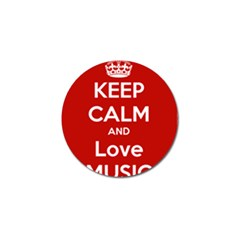 Keep Calm And Love Music 5739 Golf Ball Marker 10 Pack