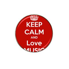 Keep Calm And Love Music 5739 Golf Ball Marker (for Hat Clip)