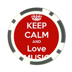 Keep Calm And Love Music 5739 Poker Chip (10 Pack)