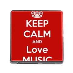 Keep Calm And Love Music 5739 Memory Card Reader With Storage (square)