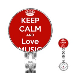 Keep Calm And Love Music 5739 Stainless Steel Nurses Watch
