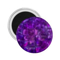 Purple Squares 2 25  Button Magnet