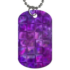 Purple Squares Dog Tag (one Sided)