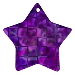 Purple Squares Star Ornament (two Sides)