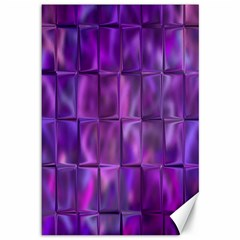 Purple Squares Canvas 12  X 18  (unframed)