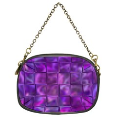 Purple Squares Chain Purse (two Sided)