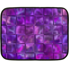 Purple Squares Mini Fleece Blanket (two Sided)