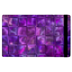 Purple Squares Apple Ipad 3/4 Flip Case