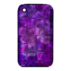 Purple Squares Apple Iphone 3g/3gs Hardshell Case (pc+silicone)