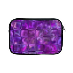 Purple Squares Apple Ipad Mini Zippered Sleeve