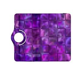 Purple Squares Kindle Fire HDX 8.9  Flip 360 Case