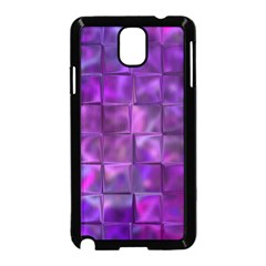Purple Squares Samsung Galaxy Note 3 Neo Hardshell Case (black)