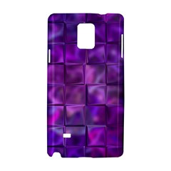 Purple Squares Samsung Galaxy Note 4 Hardshell Case