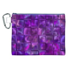Purple Squares Canvas Cosmetic Bag (XXL)