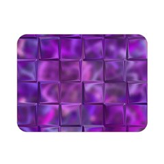 Purple Squares Double Sided Flano Blanket (Mini)