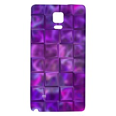 Purple Squares Samsung Note 4 Hardshell Back Case