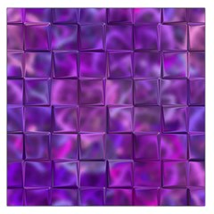 Purple Squares Large Satin Scarf (Square)