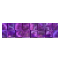 Purple Squares Satin Scarf (Oblong)