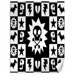 Goth Punk Skull Checkers Canvas 36  X 48  (unframed)