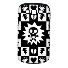 Goth Punk Skull Checkers Samsung Galaxy S Iii Classic Hardshell Case (pc+silicone)