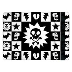 Goth Punk Skull Checkers Samsung Galaxy Tab Pro 12 2  Flip Case