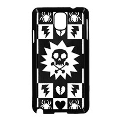 Goth Punk Skull Checkers Samsung Galaxy Note 3 Neo Hardshell Case (Black)