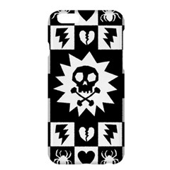Goth Punk Skull Checkers Apple Iphone 6 Plus Hardshell Case