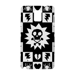 Goth Punk Skull Checkers Samsung Galaxy Note 4 Hardshell Case