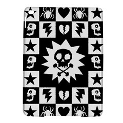 Goth Punk Skull Checkers Apple iPad Air 2 Hardshell Case