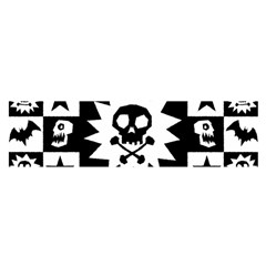 Goth Punk Skull Checkers Satin Scarf (Oblong)