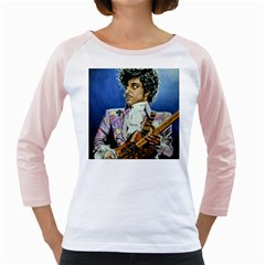 The Purple Rain Tour Women s Long Cap Sleeve T Shirt (white)