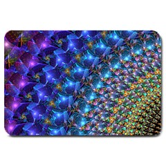 Blue Sunrise Fractal Large Doormat