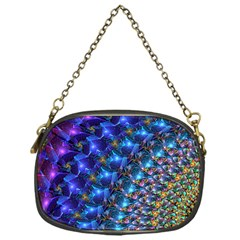 Blue Sunrise Fractal Chain Purse (one Side)