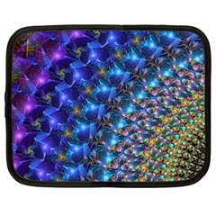 Blue Sunrise Fractal Netbook Case (xl)
