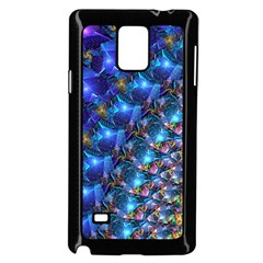 Blue Sunrise Fractal Samsung Galaxy Note 4 Case (Black)